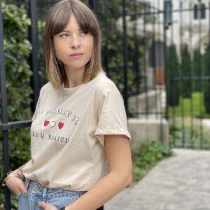 t-shirt d'amour et d'eau fraiche beige jade et lisa