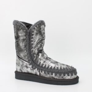 boots fourrées argentées jade et lisa