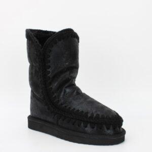 boots fourrées noires metalisées jade et lisa
